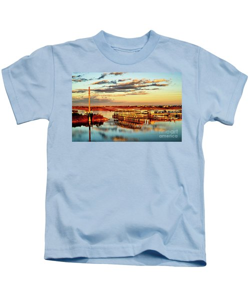 Golden Hour Bridge Kids T-Shirt