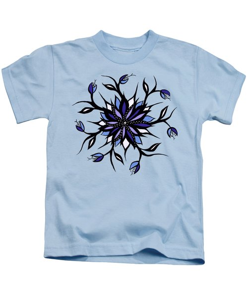 Gothic Floral Mandala Monsters And Teeth Kids T-Shirt