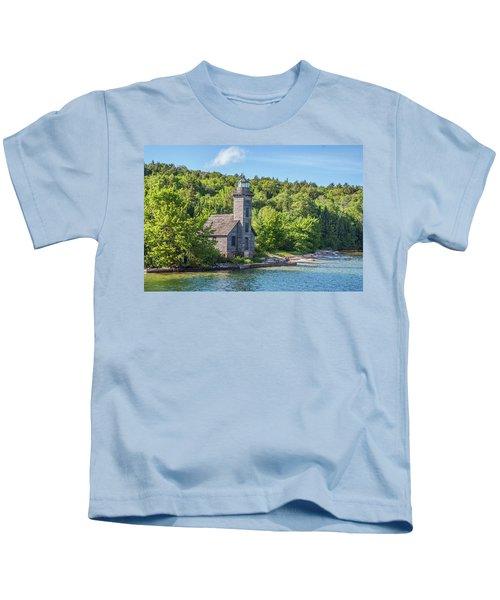Grand Island East Channel Lighthouse, No. 2 Kids T-Shirt