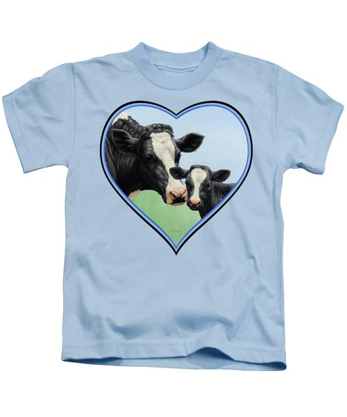 Holstein Cow And Calf Kids T-Shirt