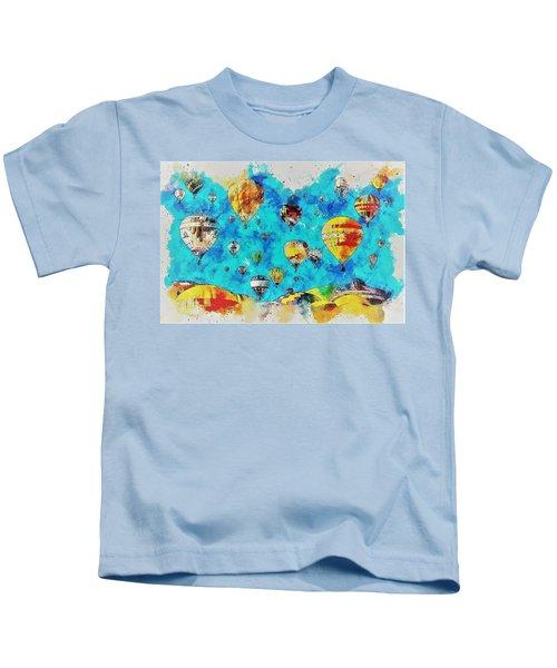 Hot Air Balloon Festival Kids T-Shirt