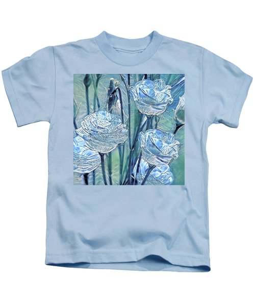 Ice Lisianthus Kids T-Shirt