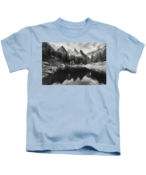 Lake Verde In The Alps IIi Kids T-Shirt