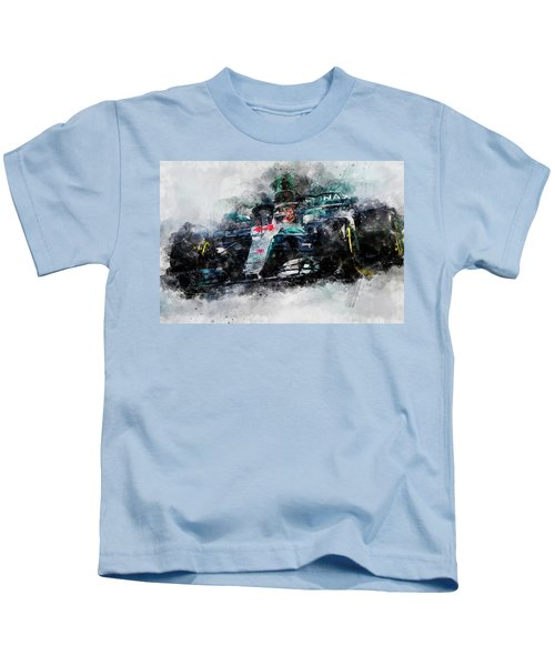 Lewis Hamilton, Mercedes Amg F1 W09 - 10 Kids T-Shirt