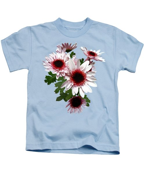 Light Pink Mums With Dark Pink Center Kids T-Shirt