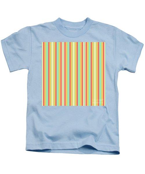 Lines Or Stripes Vintage Or Retro Color Background - Dde589 Kids T-Shirt