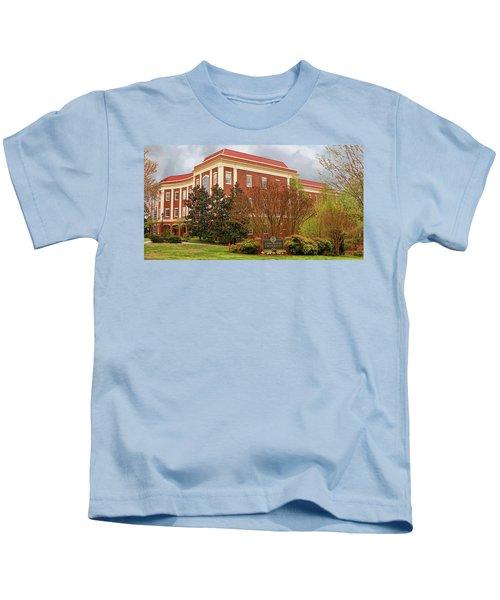 Chichester Hall At Longwood University Farmville Virginia Kids T-Shirt