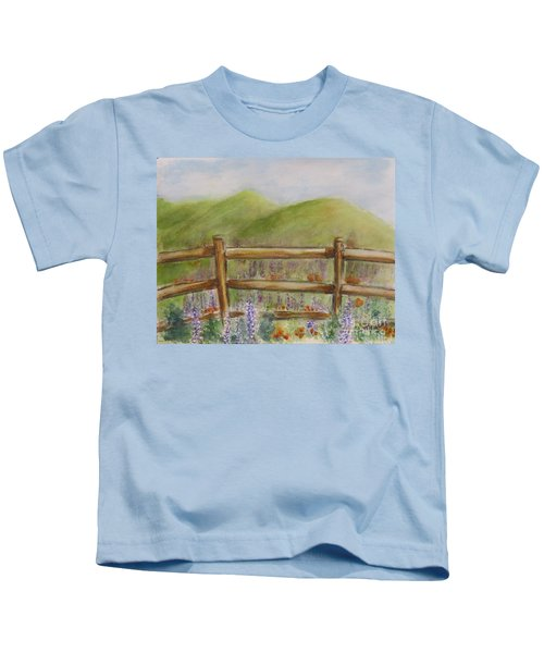 Lupines With A Side Of Poppies Kids T-Shirt