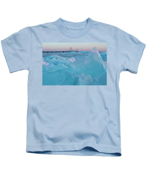 Mackinac Bridge In Ice 2161806 Kids T-Shirt