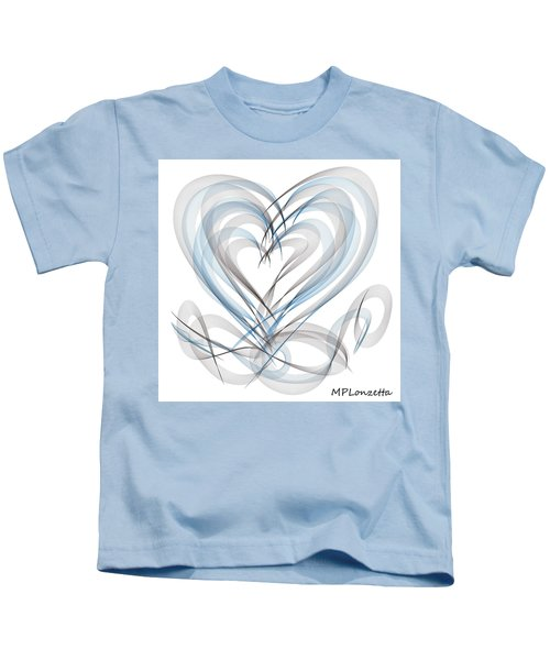 Kids T-Shirt featuring the painting Many Hearts by Marian Palucci-Lonzetta