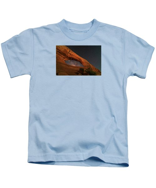 Milky Way Framed By Wilson Arch Kids T-Shirt