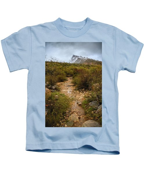Moody Creekbed  Kids T-Shirt