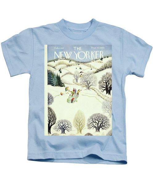 New Yorker February 1, 1947 Kids T-Shirt