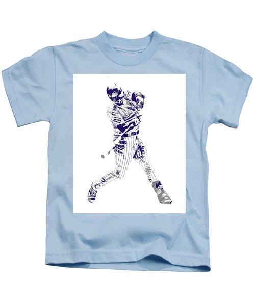 Nolan Arenado Colorado Rockies Pixel Art 120 Kids T-Shirt