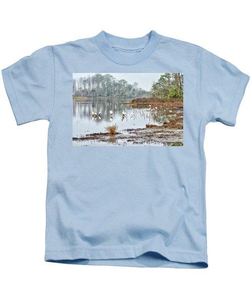 Old Rice Pond Kids T-Shirt