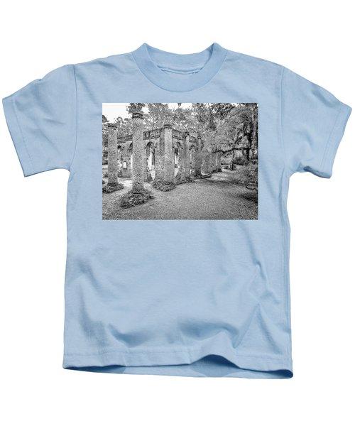 Old Sheldon Church - Angled Kids T-Shirt