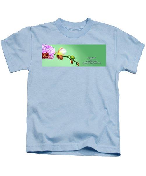 Orchid Yoga Mat Kids T-Shirt