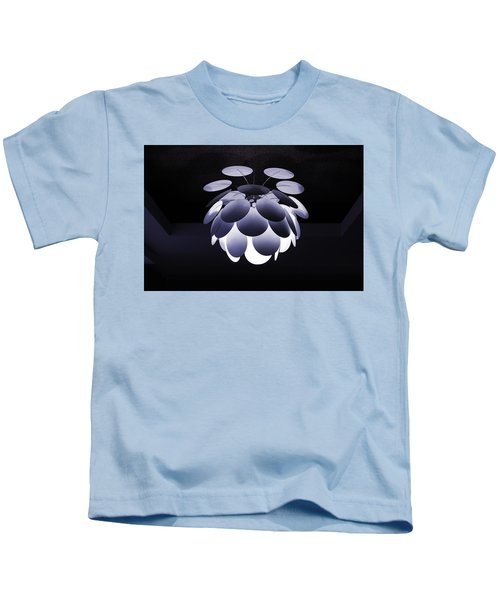 Ornamental Ceiling Light Fixture - Blue Kids T-Shirt
