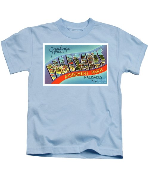 Palisades Amusement Park Greetings Kids T-Shirt