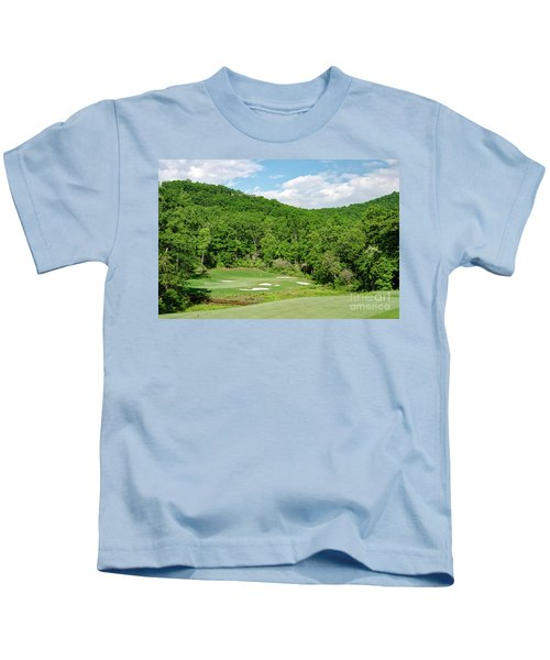 Par 3 Hole 16 Kids T-Shirt
