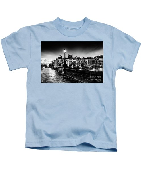 Paris At Night - Pont Neuf Kids T-Shirt