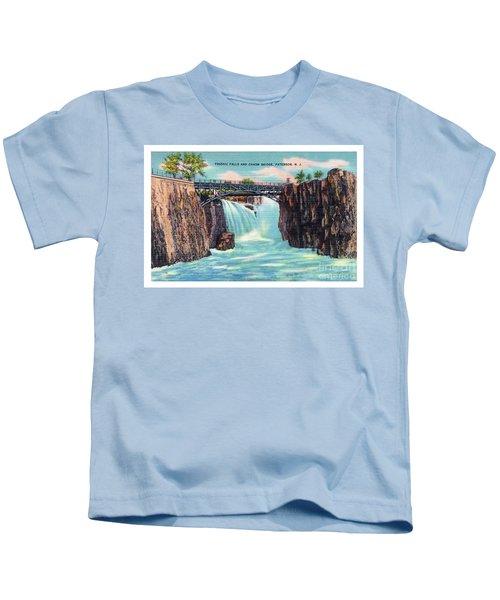 Passaic Falls And Chasm Bridge Paterson N J  Kids T-Shirt