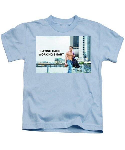 Playing Hard, Working Smart Kids T-Shirt
