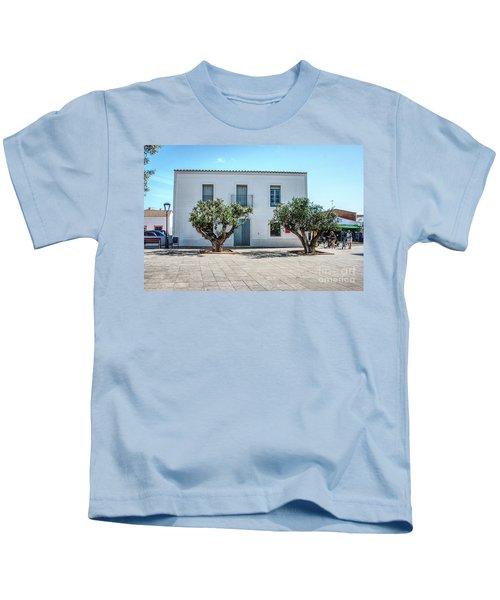 Plaza De La Constitucion, Formentera Kids T-Shirt