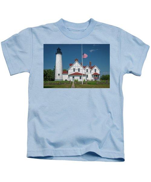 Point Iroquois Lighthouse Kids T-Shirt