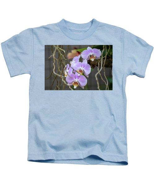Purple Orchids Kids T-Shirt