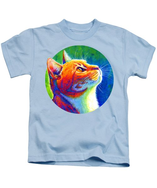 Rainbow Cat Portrait Kids T-Shirt
