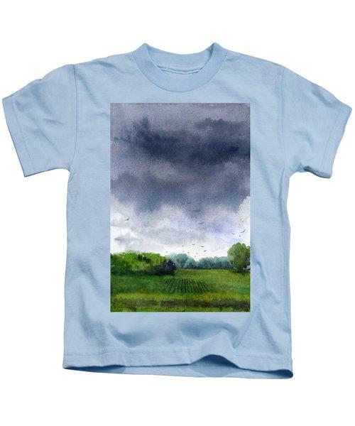 Rains Coming Kids T-Shirt