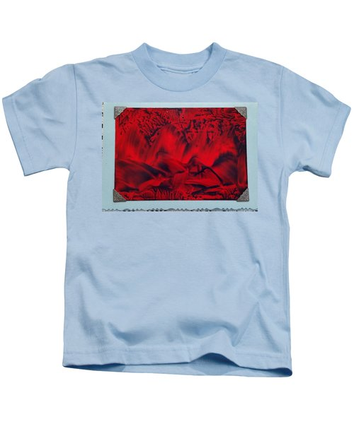 Red And Black Encaustic Abstract Kids T-Shirt