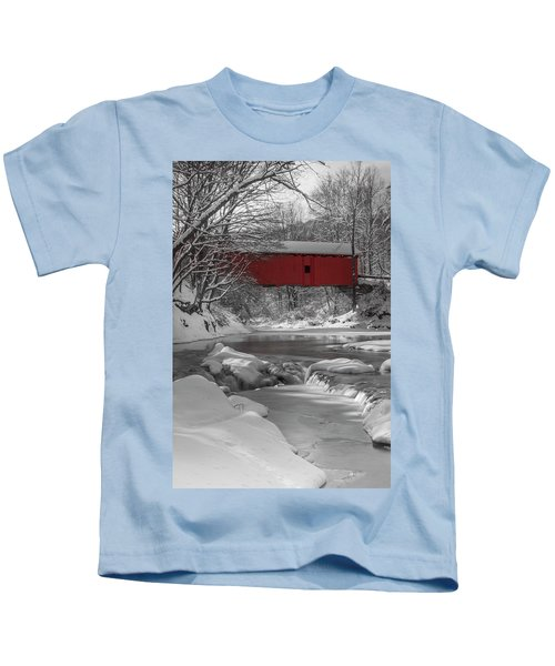 Red Covered Bridge Kids T-Shirt