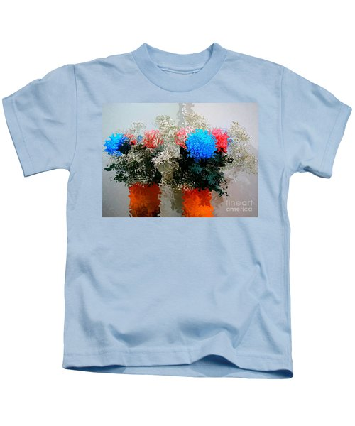 Reflection Of Flowers In The Mirror In Van Gogh Style Kids T-Shirt