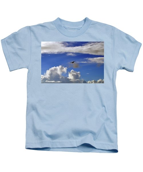 Seaplane Skyline Kids T-Shirt