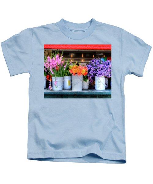 Seattle Flower Market Kids T-Shirt