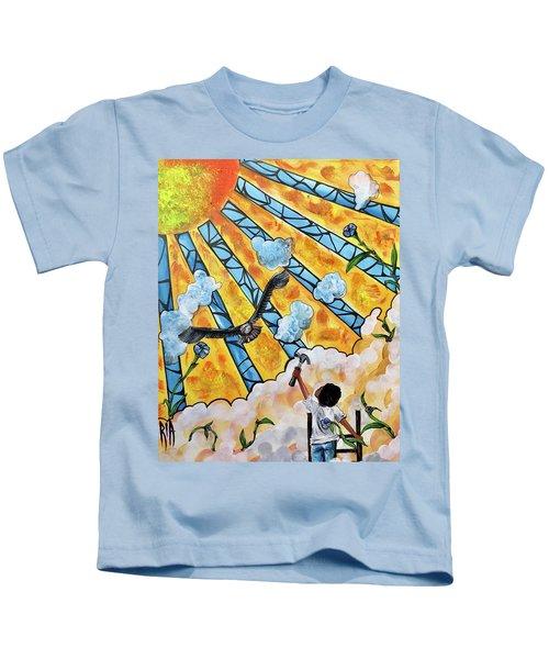 Shattered Skies Kids T-Shirt