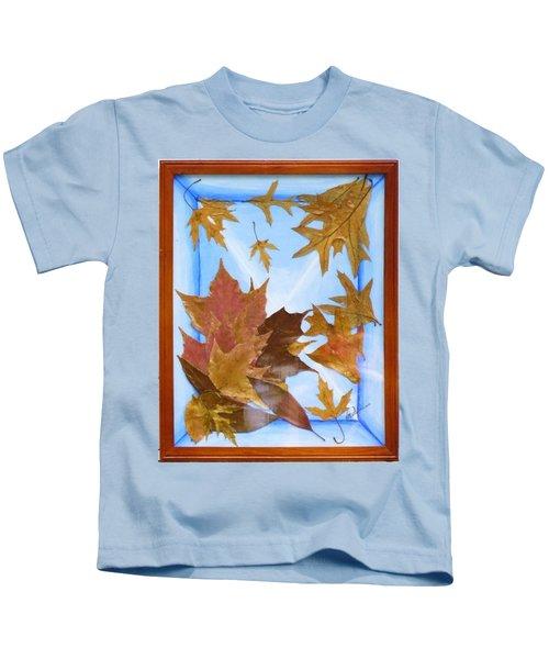 Splattered Leaves Kids T-Shirt