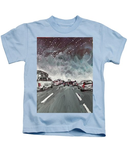 Starry Night Traffic Kids T-Shirt