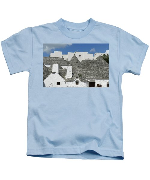 Stone Coned Rooves Of Trulli Houses Kids T-Shirt
