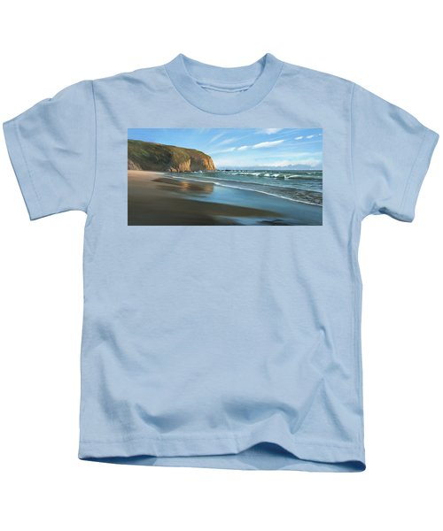 Strands Beach Dana Point Oil Painting Kids T-Shirt