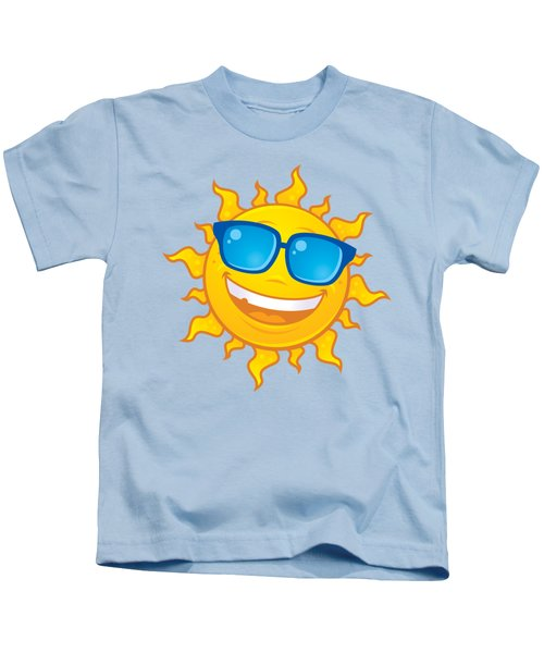 Summer Sun Wearing Sunglasses Kids T-Shirt
