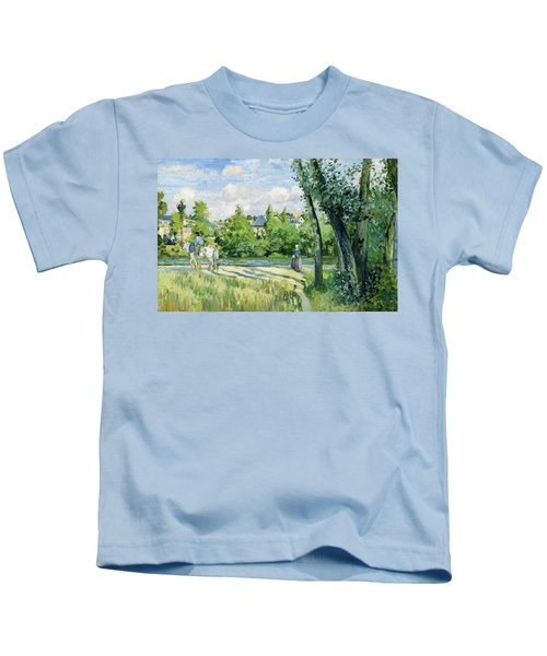 Sunlight On The Road, Pontoise - Digital Remastered Edition Kids T-Shirt