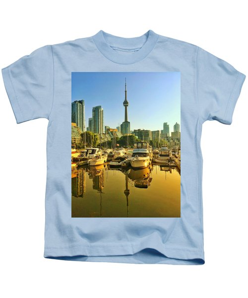Sunrise At The Harbour Kids T-Shirt
