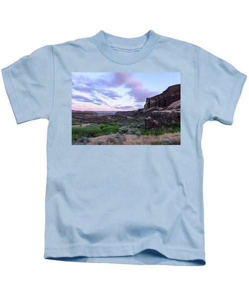 Sunrise In The Ancient Lakes Kids T-Shirt