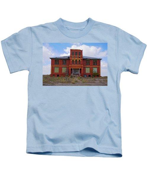 Texas Ghost Town School  Kids T-Shirt