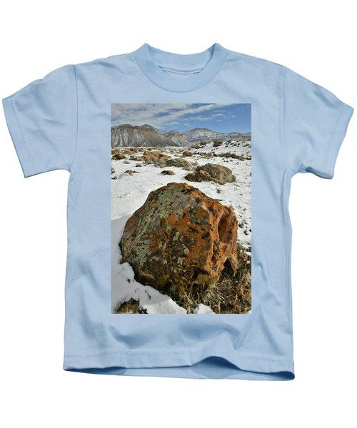 The Book Cliff's Colorful Boulders Kids T-Shirt