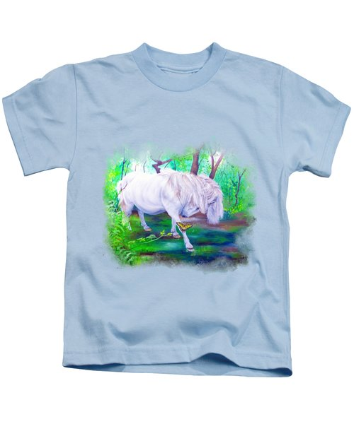 The Butterfly And The Pony Kids T-Shirt
