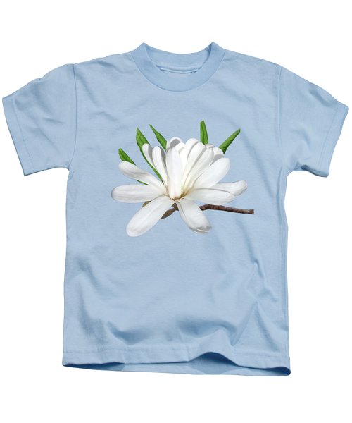 The Flower Is The Star Magnolia Kids T-Shirt